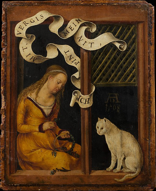 Portrait of a Young Man; (reverse) Girl Making a Garland