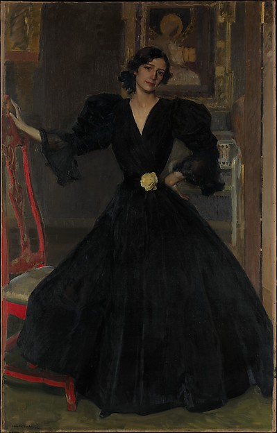 Seora de Sorolla (Clotilde Garca del Castillo, 18651929) in Black