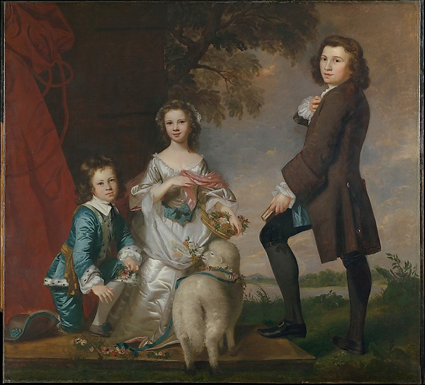Thomas (1740–1825) and Martha Neate (born 1741) with His Tutor, Thomas Needham