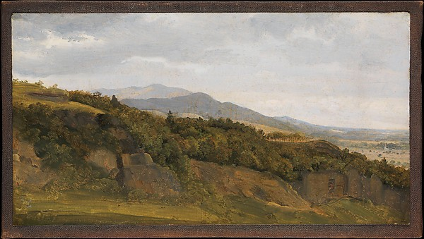 German Landscape with View towards a Broad Valley