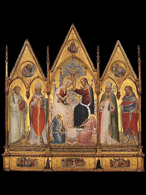The Coronation of the Virgin, and Saints