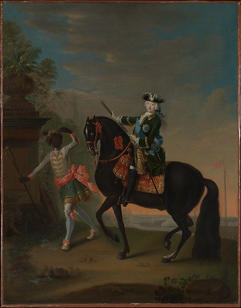 The Empress Elizabeth of Russia (1709–1762) on Horseback, Attended by a Page