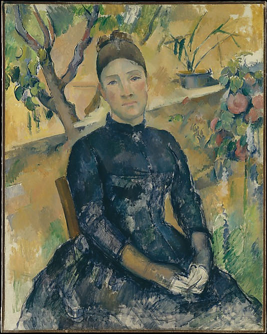 Madame Cézanne (Hortense Fiquet, 1850–1922) in the Conservatory