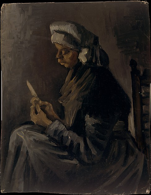 The Potato Peeler (reverse: Self-Portrait with a Straw Hat)