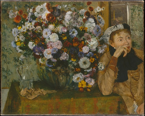 A Woman Seated beside a Vase of Flowers (Madame Paul Valpinçon?)