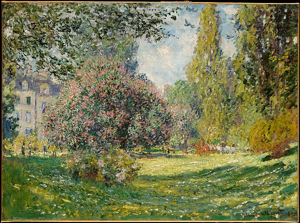 This is What Claude Monet and Landscape| The Parc Monceau Looked Like  in 1876
