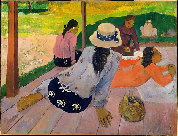 Fascinating Historical Picture of Paul Gauguin with The Siesta in 1892