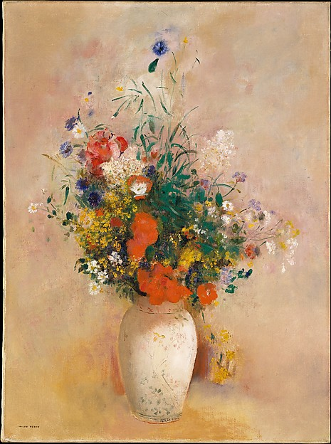Vase of Flowers (Pink Background)