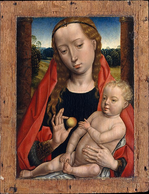Fascinating Historical Picture of Hans Memling with Virgin and Child in 1490