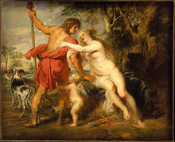 Fascinating Historical Picture of Peter Paul Rubens with Venus and Adonis in 1630