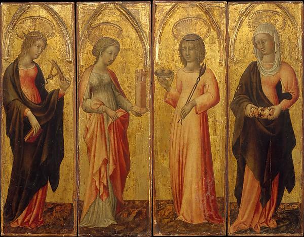 Saints Catherine of Alexandria, Barbara, Agatha, and Margaret