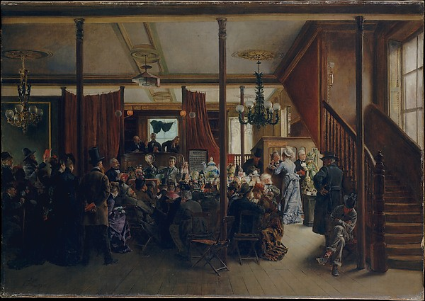 Auction Sale in Clinton Hall, New York, 1876