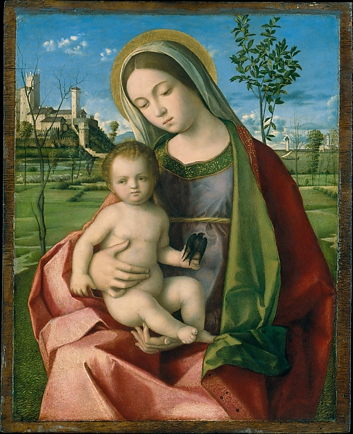 This is What Giovanni Bellini and Madonna and Child Looked Like  in 1510