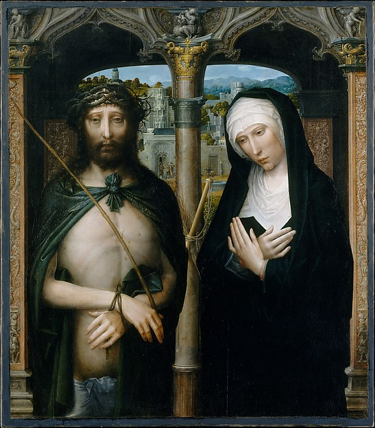 Christ Crowned with Thorns (Ecce Homo), and the Mourning Virgin