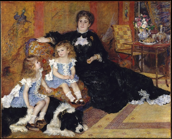 Madame Georges Charpentier (Marguérite-Louise Lemonnier, 1848–1904) and Her Children, Georgette-Berthe (1872–1945) and Paul-Émile-Charles (1875–1895)