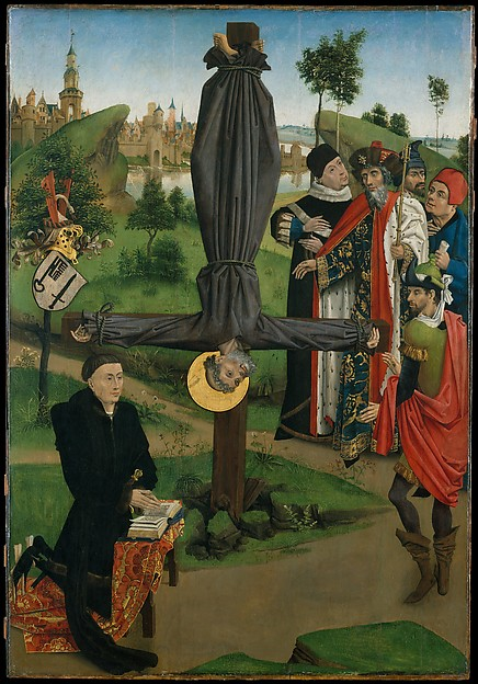The Crucifixion of Saint Peter with a Donor; The Legend of Saint Anthony Abbot with a Donor;  The Annunciation