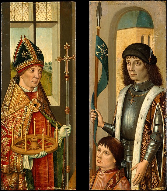 Saint Donatian; Saint Victor Presenting a Donor