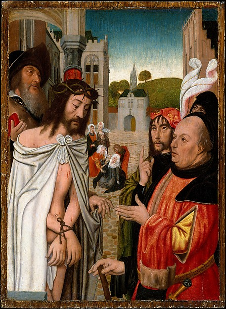 Fascinating Historical Picture of Jan Mostaert with Christ Shown to the People in 1510