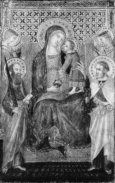 Madonna and Child Enthroned with Saints Peter and Paul and Angels