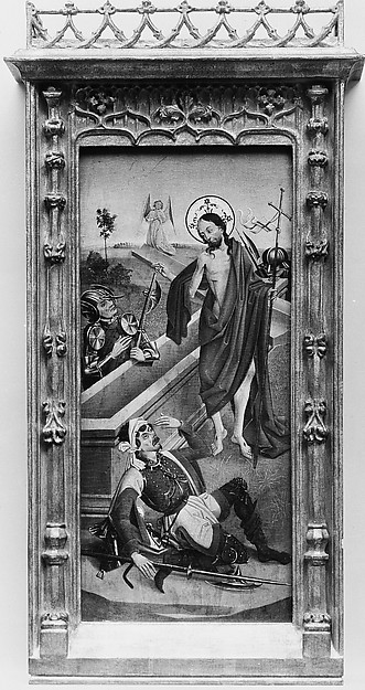 The Crucifixion, (reverse) Saint Francis of Assisi; The Resurrection, (reverse) An Abbot Saint, Possibly Saint Benedict
