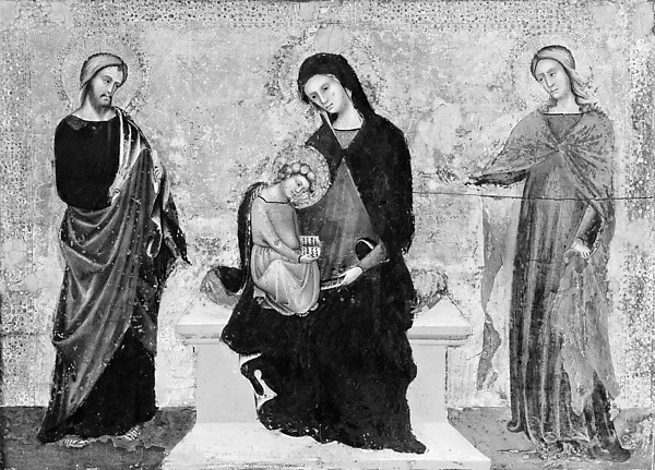 Madonna and Child Enthroned with Saints James Minor and Lucy
