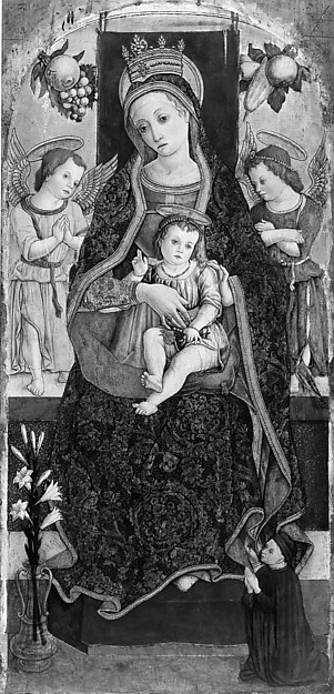 Madonna and Child Enthroned with Two Angels and a Donor