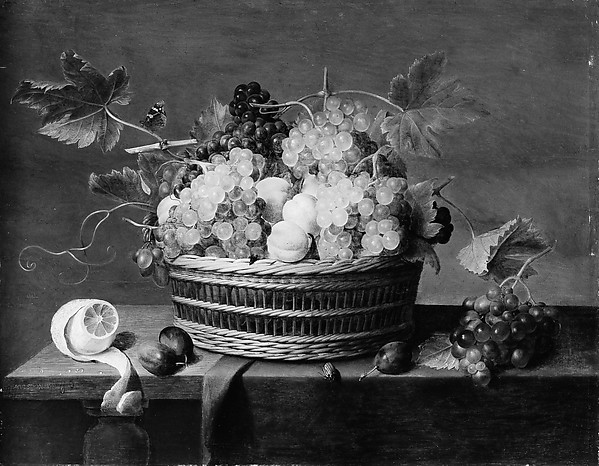 Still Life: A Basket of Grapes and Other Fruit