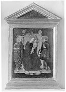 Madonna and Child Enthroned with Saint John the Baptist and Another Saint