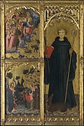 Saint Giles with Christ Triumphant over Satan and the Mission of the Apostles