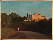 View of the Villa Torlonia, Frascati, at Dusk