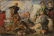 """Copy after Rubens's """"Wolf and Fox Hunt"""""""