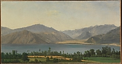 Lake Fucino and the Abruzzi Mountains