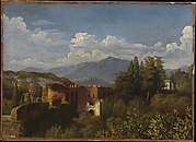 View of Porta Pinciana from the Gardens of the Villa Ludovisi