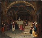 Pope Gregory XVI Visiting the Church of San Benedetto at Subiaco