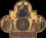 Christ Enthroned with Saints