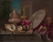 Still Life with Silver and Gold Plate, Shells, and a Sword
