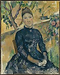 Madame C&#233;zanne (Hortense Fiquet, 18501922) in the Conservatory