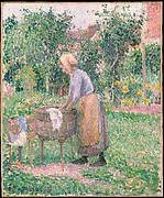 A Washerwoman at Eragny