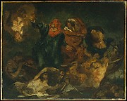 "Copy after Delacroix&#39;s ""Bark of Dante"""