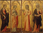 Saints Catherine of Alexandria, Barbara, Agatha, and Margaret