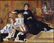 Madame Georges Charpentier (Margurite-Louise Lemonnier, 18481904) and Her Children, Georgette-Berthe (18721945) and Paul-mile-Charles (18751895)
