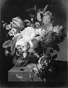 Flowers in a Stone Vase