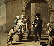 Beggars at a Doorway