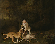 Freeman, the Earl of Clarendon's gamekeeper, with a dying doe and hound