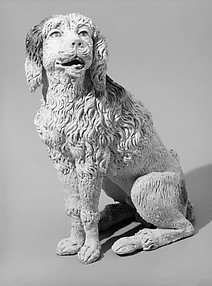 Seated poodle