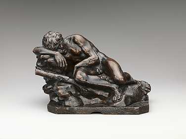 Bronze sleeping Herakles