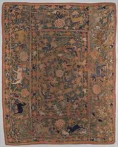 Panel with Flowers, Birds, and Animals