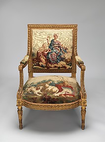 Furniture Depicting the Four Continents: Armchair
