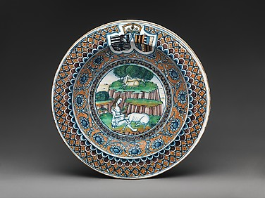Dish with the Arms of Matthias Corvinus and Beatrix of Aragon