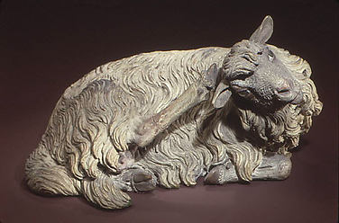 Reclining sheep
